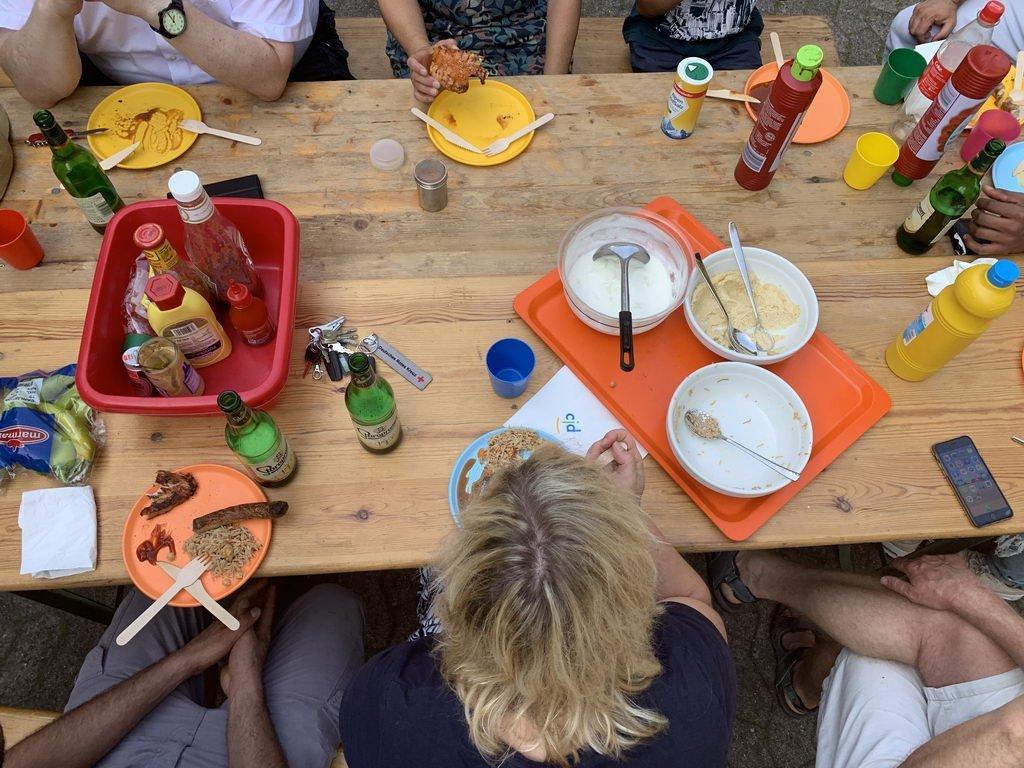 Sommerfest 2019 mit DRK OV Lehrte - Hartgesottene zum Schluss