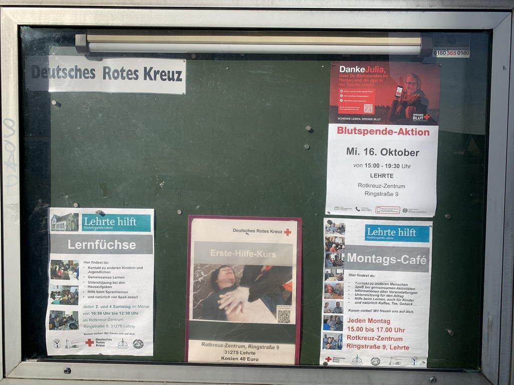 Interkulturelle Gemeinschaftsaktion Lehrte - DRK-Eingang