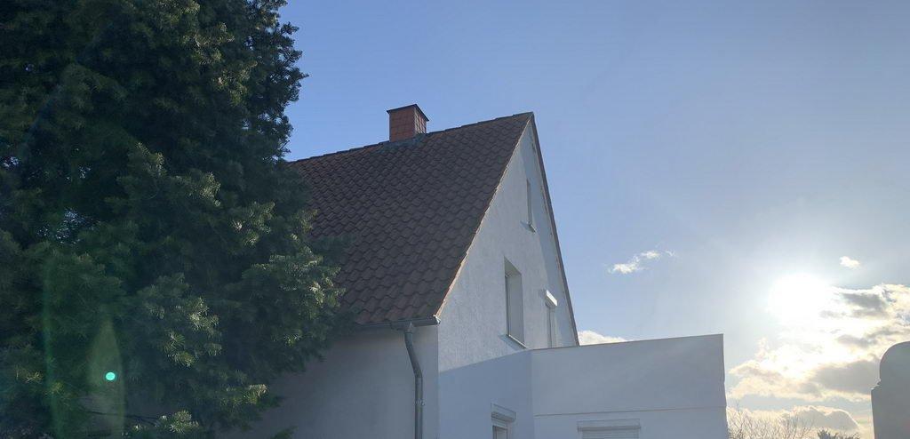 Blick auf Haus