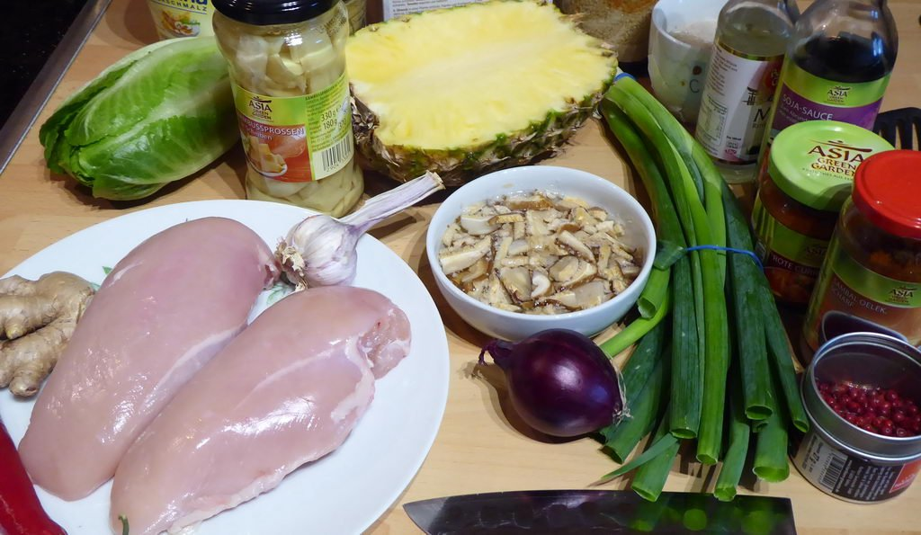Curry-Geschnetzeltes süß-sauer-scharf - Zutaten