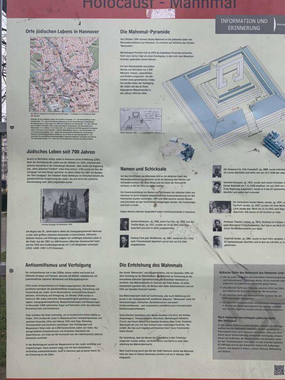 Holocaustdenkmal - Tafel