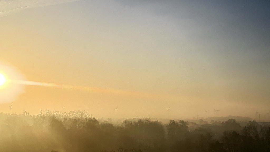 tolles Morgenlicht Neujahr