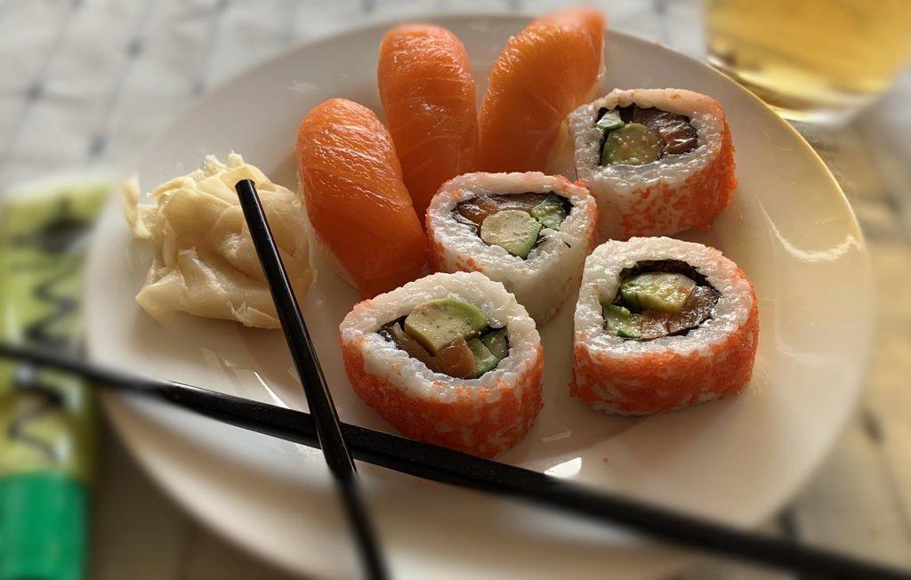 Sushi an Silvester zum Frühstück