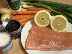 Lachs im Gemüsepäckchen - Zutaten