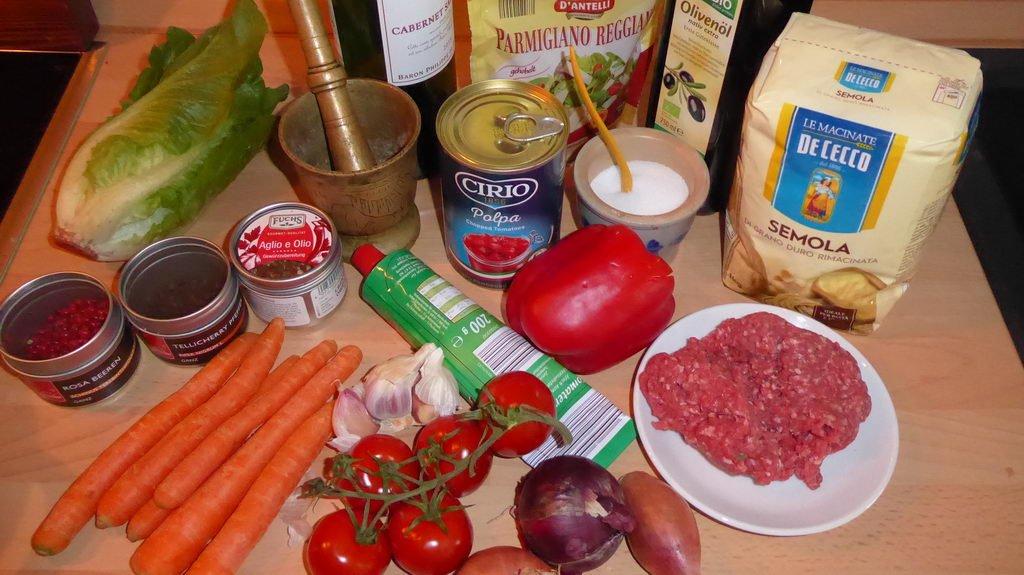 Spaghetti Bolognese - Zutaten