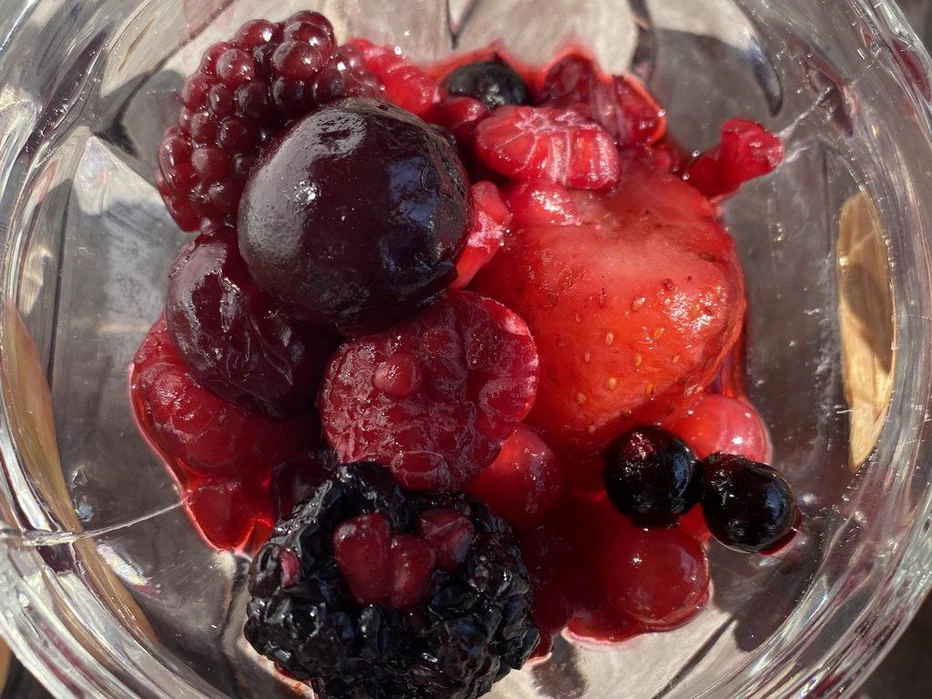 Beeren als Nachtisch
