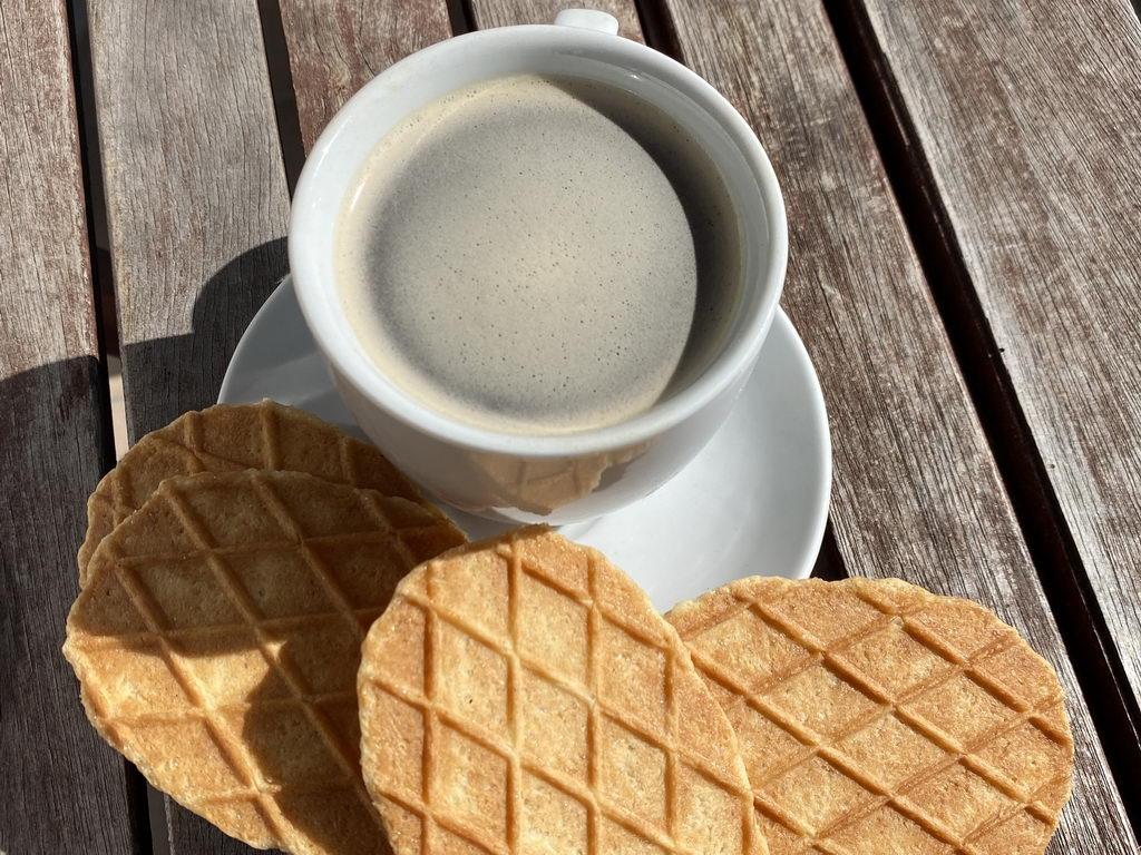 Espresso und Butterkekse