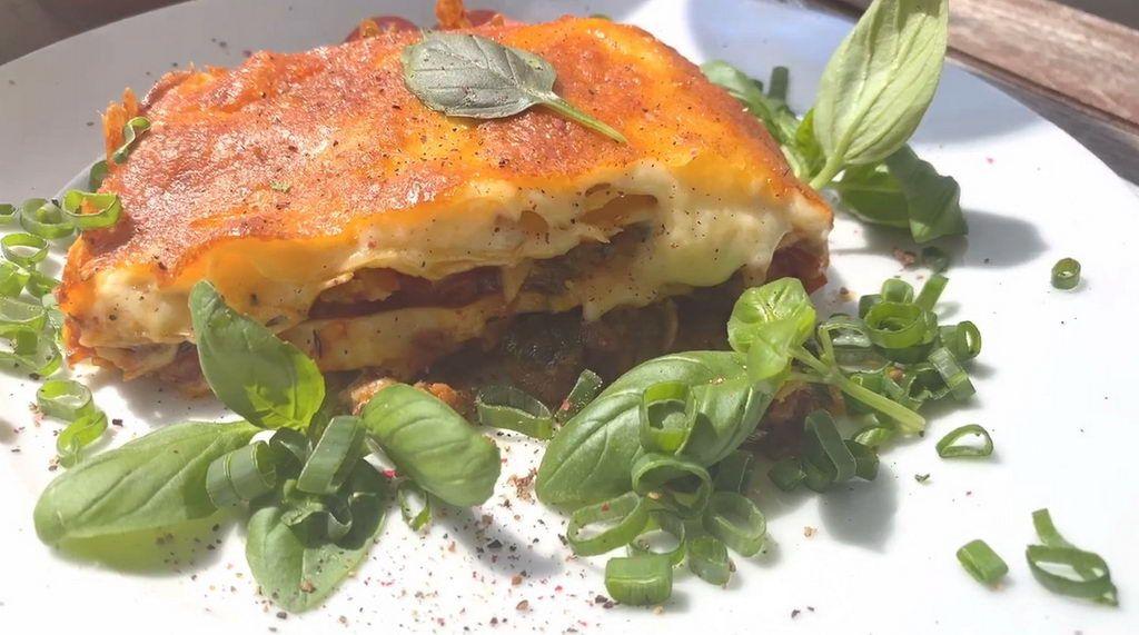 Lasagne mit Basilikum
