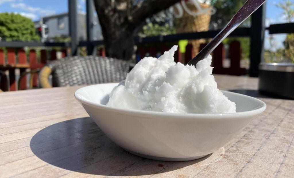 Pause mit lecker Eis