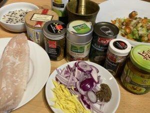 Fisch-Curry mit Basmati-Wildreis - Zutaten