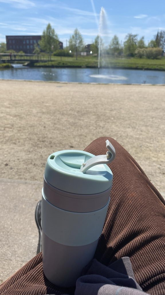 Pause am Springbrunnen