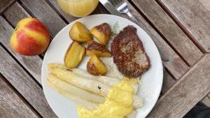 Spargel gebacken plus Ofenkartoffeln plus Filet - boerps