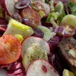 17-07 gegrillte Avocado - Ziegenkaesebaguette - Salat - mjam 3