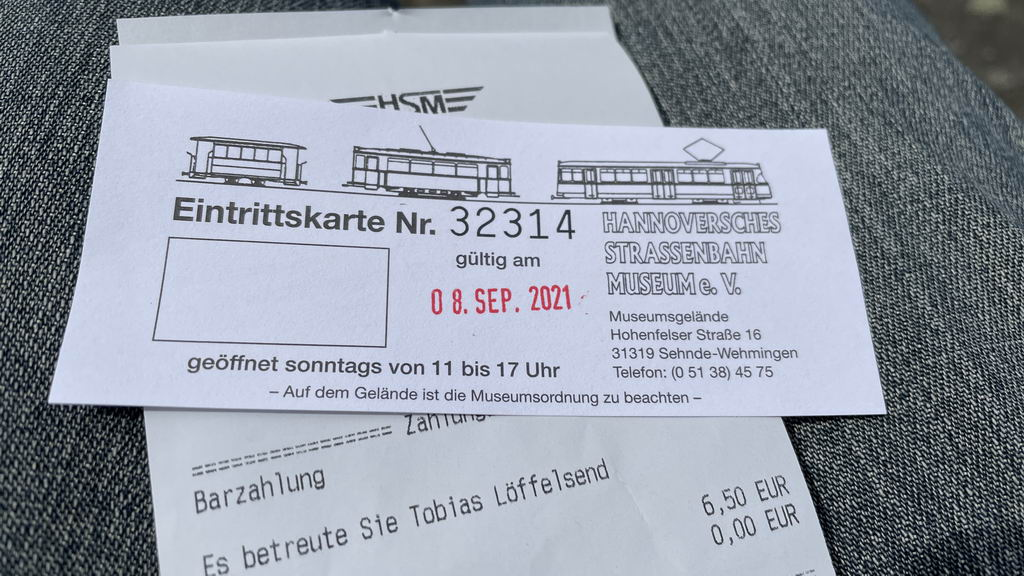 Hannoversches-Strassenbahn-Museum - Eintrittskarten